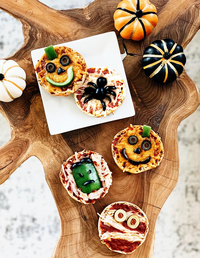 Halloween English Muffin Pizzas