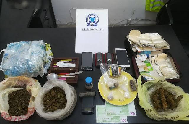 Βρήκαν και άλλα ναρκωτικά στο σπίτι του 47χρουνου που συνελήφθη στην Ερμιονίδα