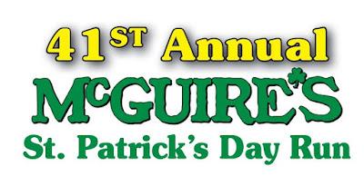 2018 McGuire's Saint Patrick's Day 5K Run banner