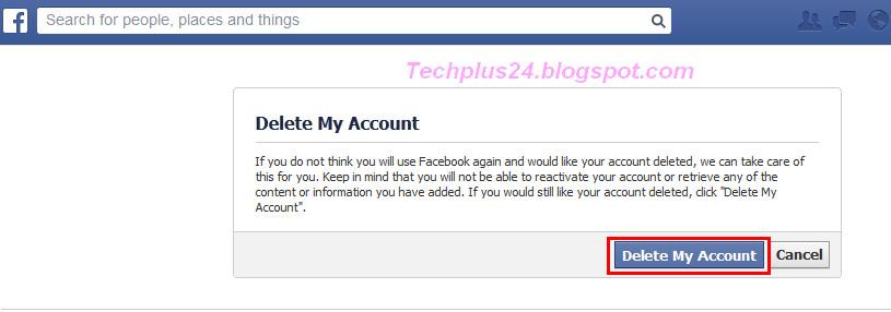 Delete Facebook ID Permanently   Techwap