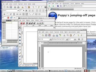 PUPPY LINUX tiene preinstaladas buenas aplicaciones para comenzar a trabajar