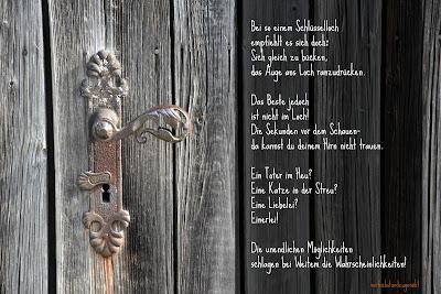 Schlüselloch mit Gedicht