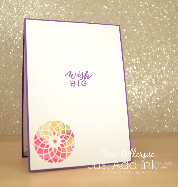 scissorspapercard, Stampin' Up!, Just Add Ink, Follow Your Dreams, Chase Your Dreams Framelits