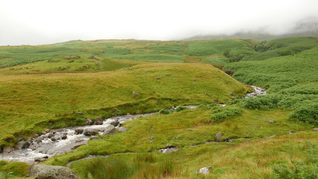 Mist and rushing water from the Coniston fells
