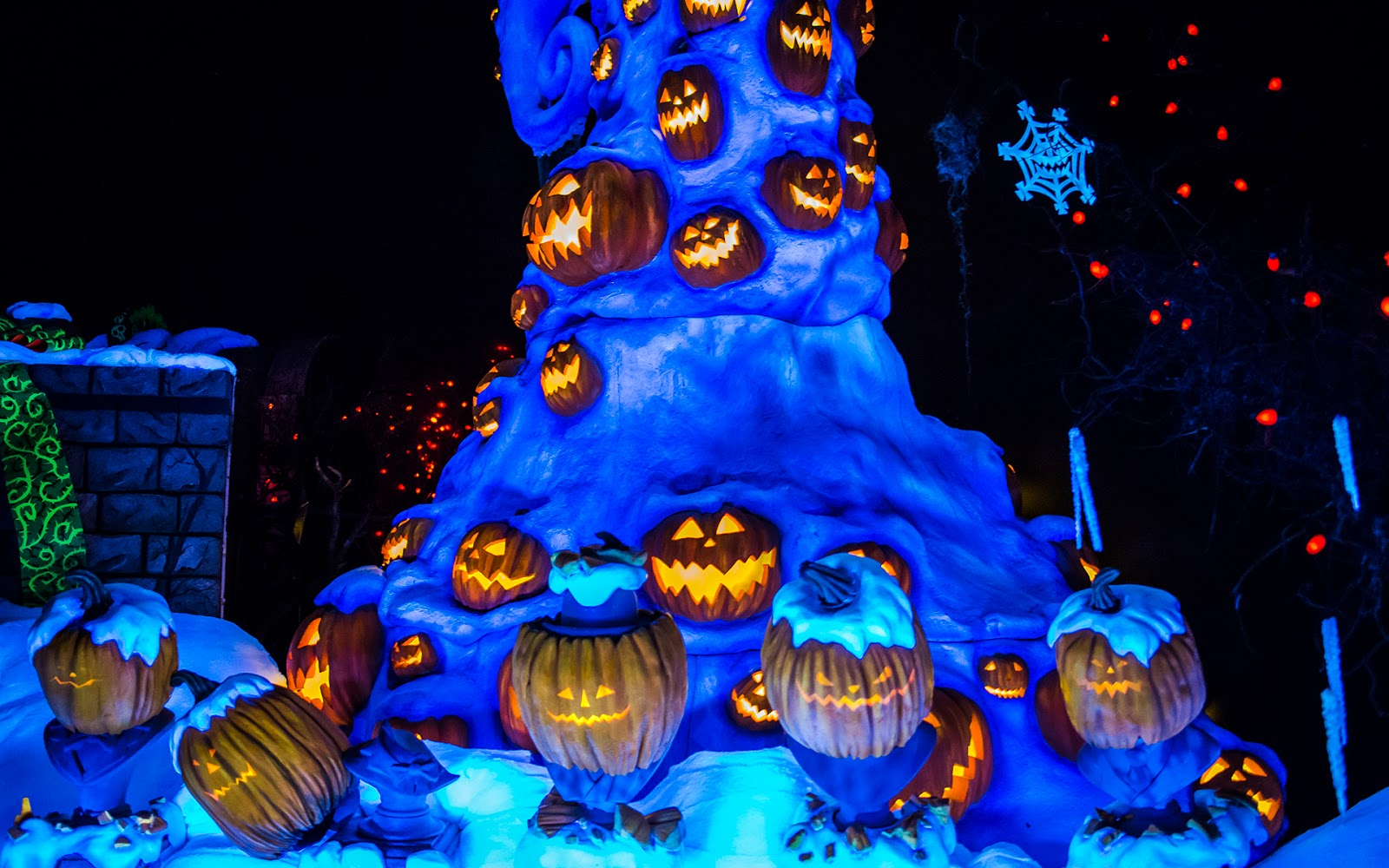 A Halloween Christmas Tree In The Graveyard