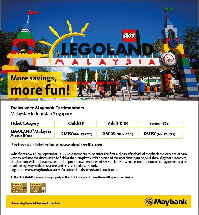I Love Freebies Malaysia: Promotions > Maybank / Legoland ...