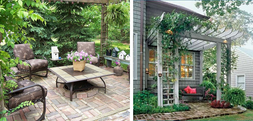 les plus beauxx: pinterest ideas: brick patio on Small Brick Patio Ideas id=84412