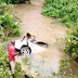 Car Carrying 7 Passengers Veers Off The Road, Lands Into River In Calabar (#photos)