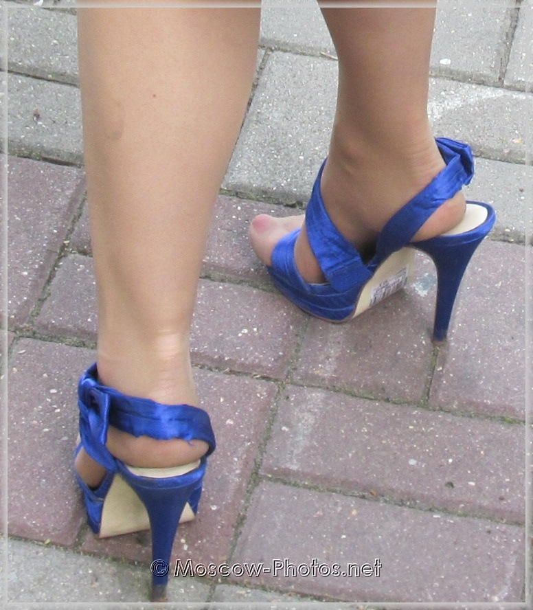 Blue Party High Heel Shoes