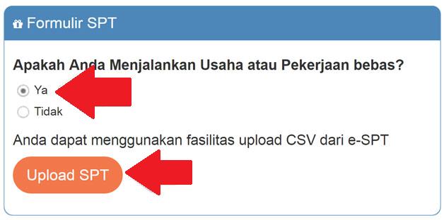Upload dokumen via DPJ Online