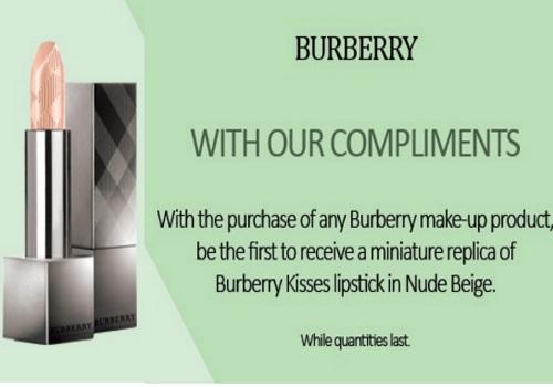 Hudson's Bay Free Burberry Lipstick