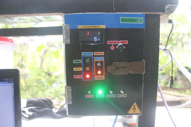 Gambar 4 6 Lampu Indikator Panel untuk Pompa 1 menyala