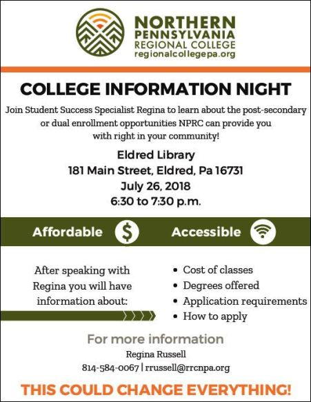 7-26 North PA College Info, Eldred