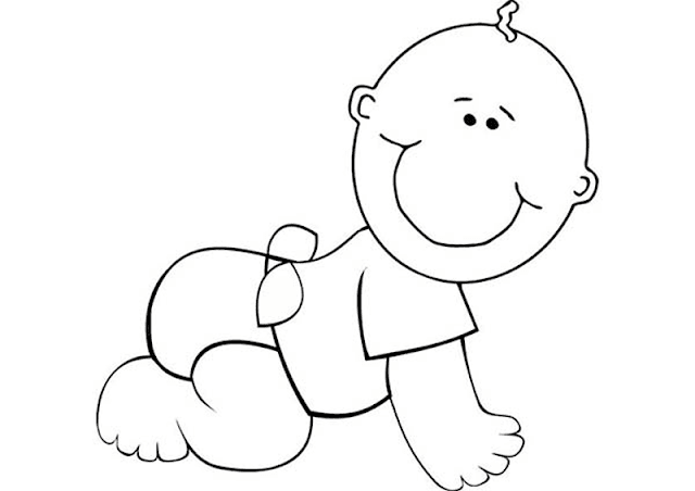 Gambar Mewarnai Bayi Untuk Anak Paud Dan Tk Aneka Gambar Mewarnai