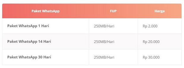 Paket Internet 3 WhatsApp Dalam Negeri Terbaru 2019