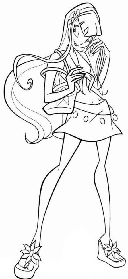 22 Winx Coloring Pages Free for Kids >> Disney Coloring Pages