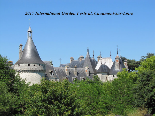 Chaumont-sur-Loire over the trees at the garden festival