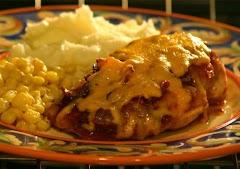 صدور دجاج  بالجبنة  بالفرن