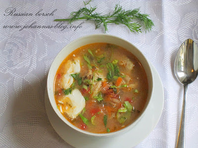 Russian borsch (sour soup)