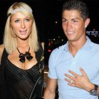 Paris Hilton with Cristiano Ronaldo