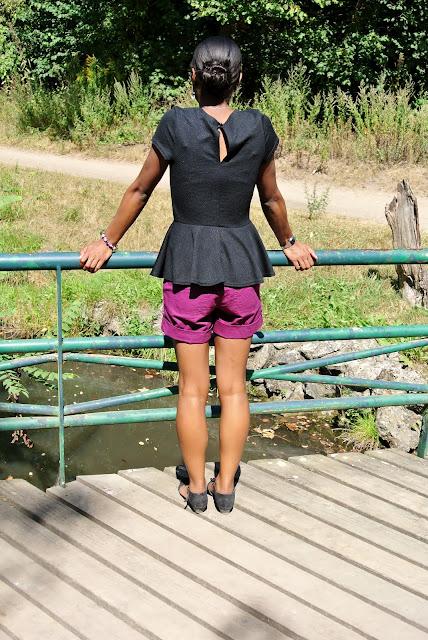 Top   Top péplum New Look Short   H M Sandales   Edeis Lunette de soleil    Ray-Ban c26893d00ac7