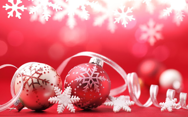 Red Christmas Ornaments Wallpapers 2016