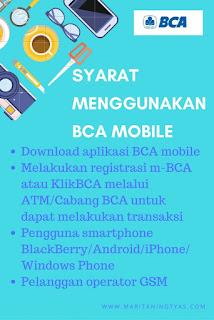 Syarat Menggunakan BCA Mobile