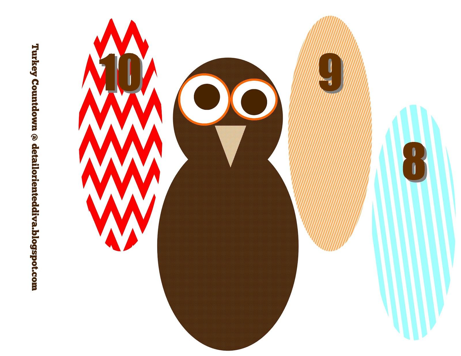 Turkey Feather Countdown Craft