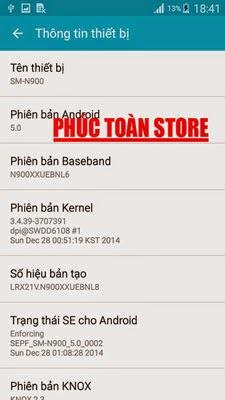 Tiếng Việt Samsung N900 phiên bản 5.0 alt