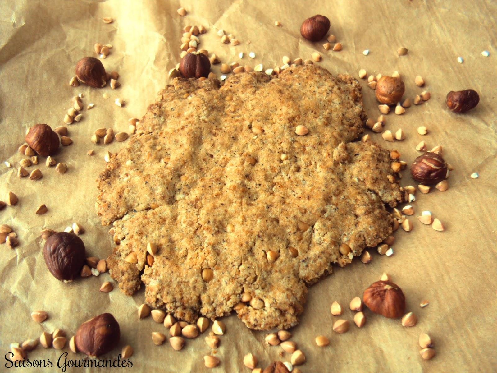 Biscuits vegans et végétaliens au sarrasin et à la noisette (kasha)