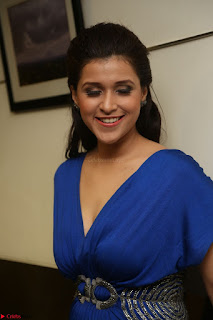 Mannara Chopra in Short Blue Dress at Rogue Movie Teaser Launch 1st March 2017 070.JPG