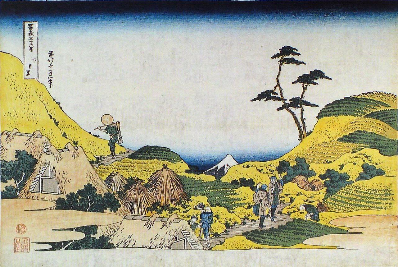 Pintura da série Trinta e Seis Vistas do Monte Fuji