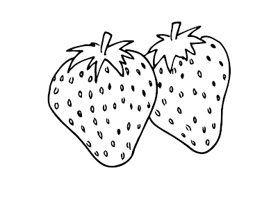 Gambar Mewarnai Buah Strawberry - 2