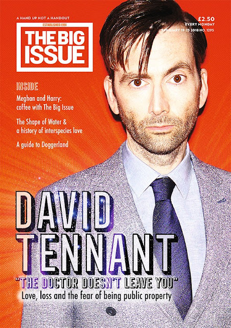 David Tennant on the cover of The Big Issue