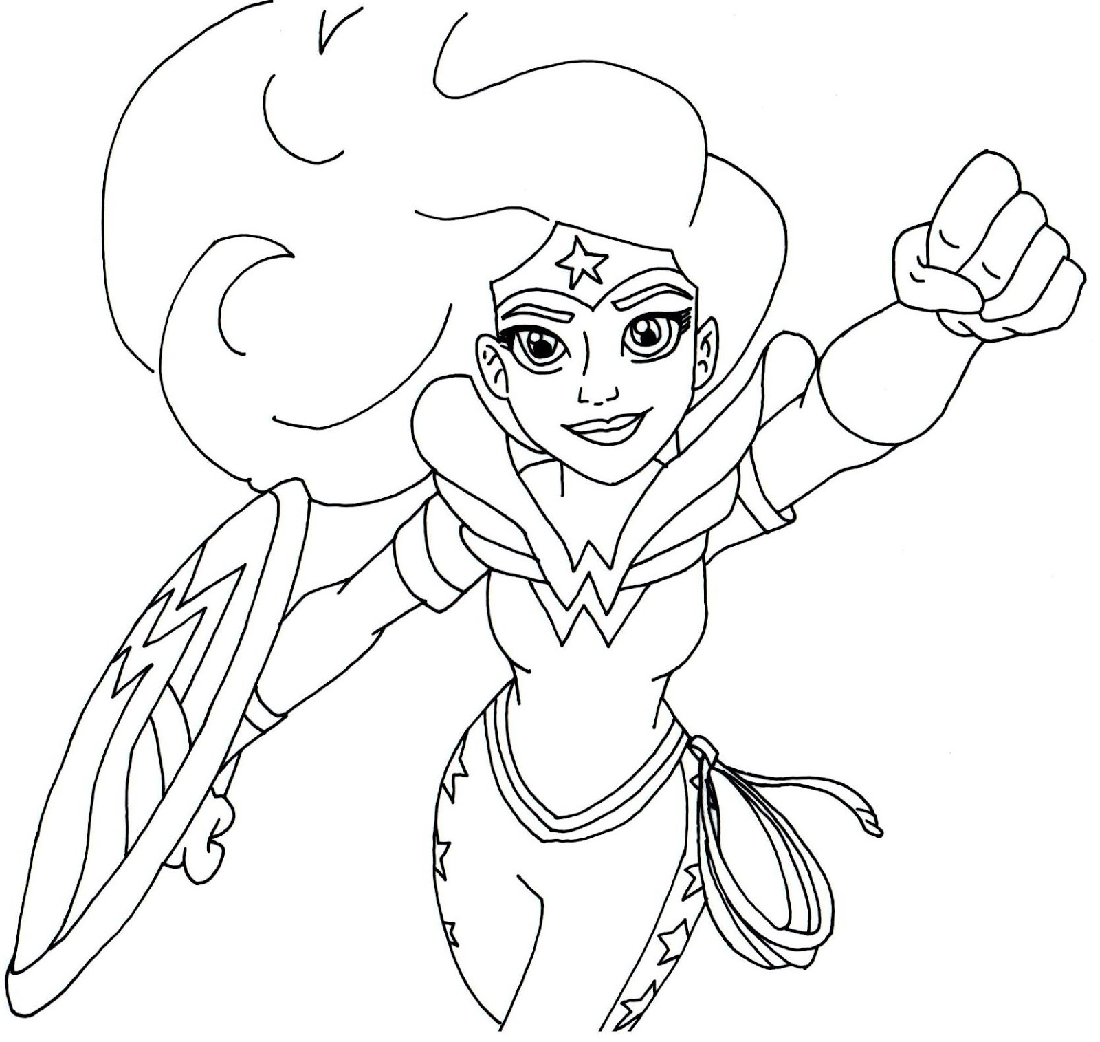 Free printable super hero high coloring pages wonder for Superhero free coloring pages