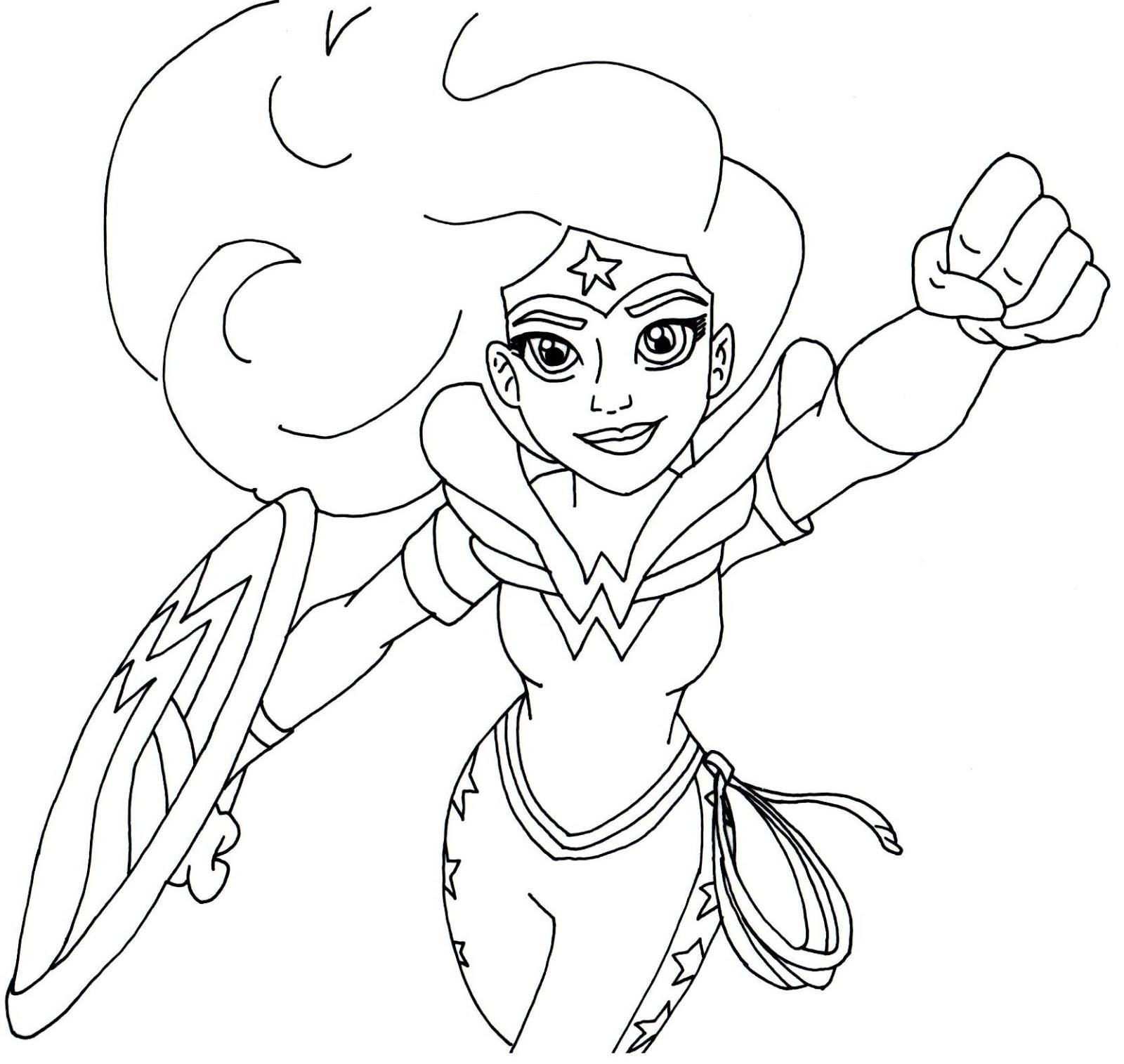 Download and Print Wonder Woman Super Hero High Coloring