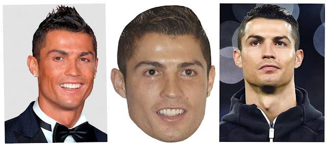 Máscaras de Cristiano Ronaldo para Imprimir Gratis.