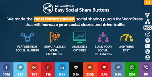 Easy Social Share Buttons v3.6.1 WordPress Plugin