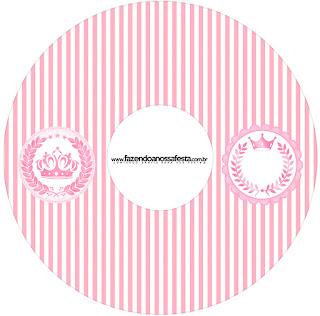 Etiquetas de Corona Rosada para CD's.