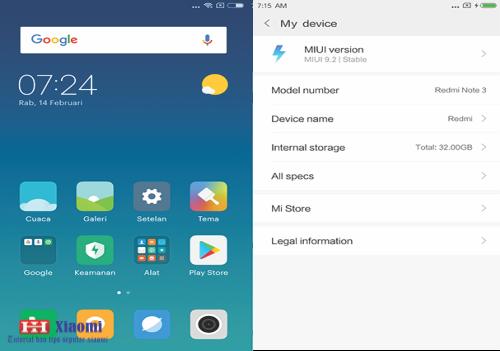 Cara Update ROM  global MIUI 9 (Bahasa Indonesia) Redmi Note 3 MTK