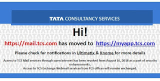 mail.tcs.com moved to myapp.tcs.com