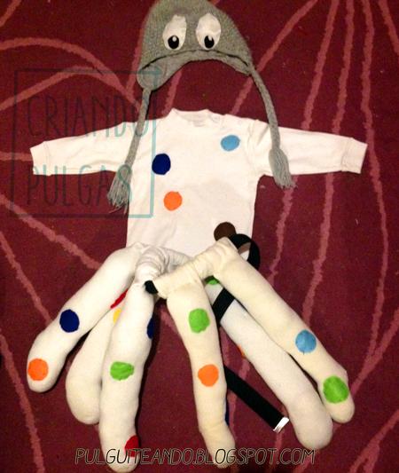 Disfraz de pulpo DIY para carnaval