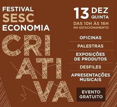Shopping Grande Rio promove Festival Sesc de Economia Criativa