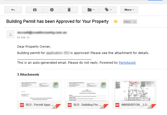 Yourbuilds Our House Build Building Permit Approved