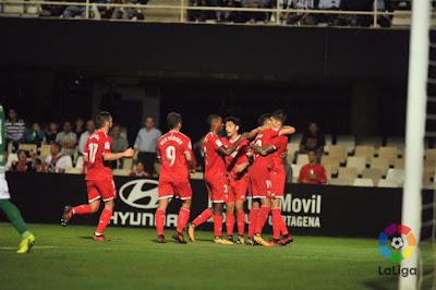 Crónica FC Cartagena 0 - Sevilla FC 3