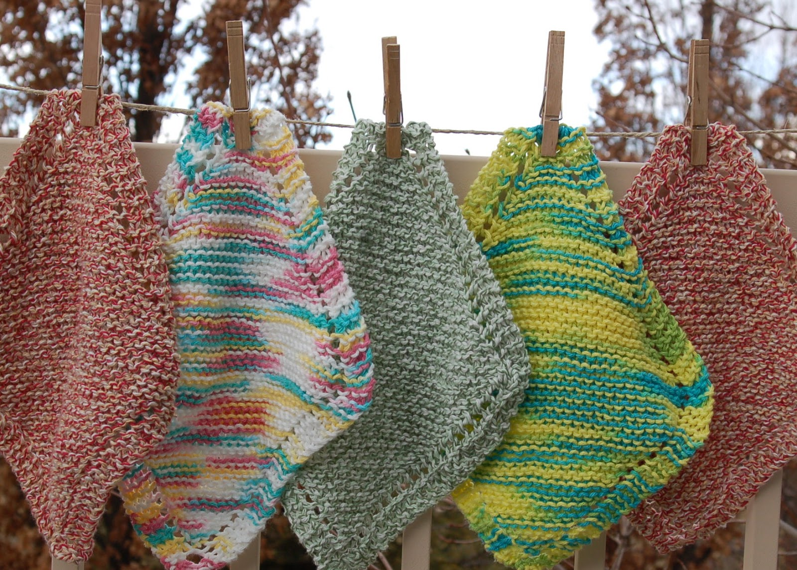 How to knit a knitted dish towel