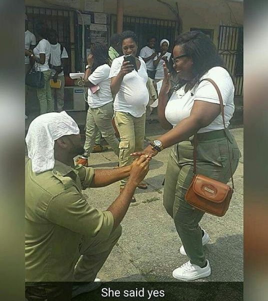 Female Corper Gets Marriage Proposal From Male Corper