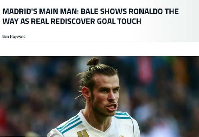 """Real thắng đậm, báo giới nói Bale """"dạy"""" Ronaldo cách ghi bàn 1"""