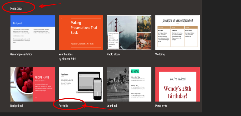 here is an easy way for students to create digital portfolio using
