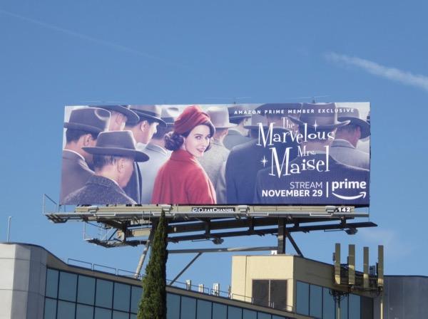 Marvelous Mrs Maisel series premiere billboard